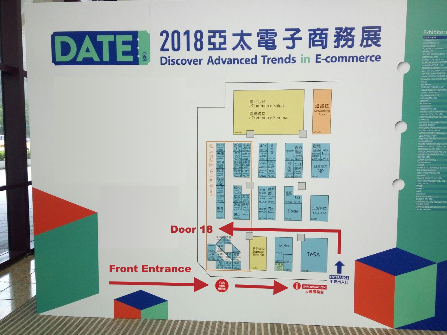 Ecommerce Show Directions